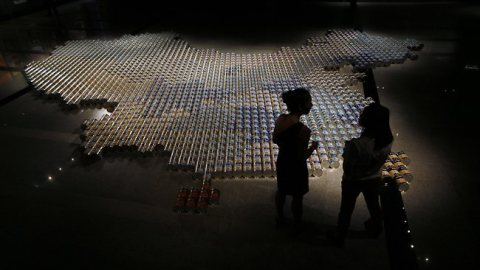 Chinese artist Ai Weiwei maps China's demand for baby milk powder.