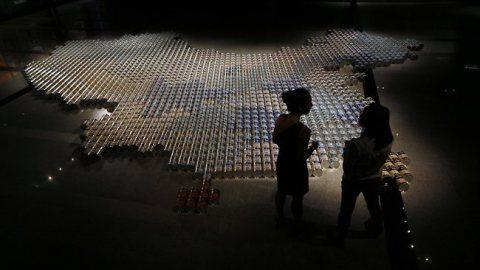 Chinese artist Ai Weiwei maps China's demand for baby milk powder.